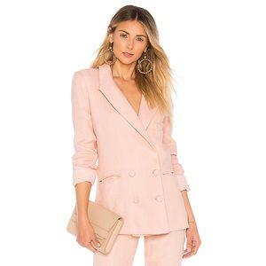 Lovers Friends Fanning Blazer Jacket Blush Pink S